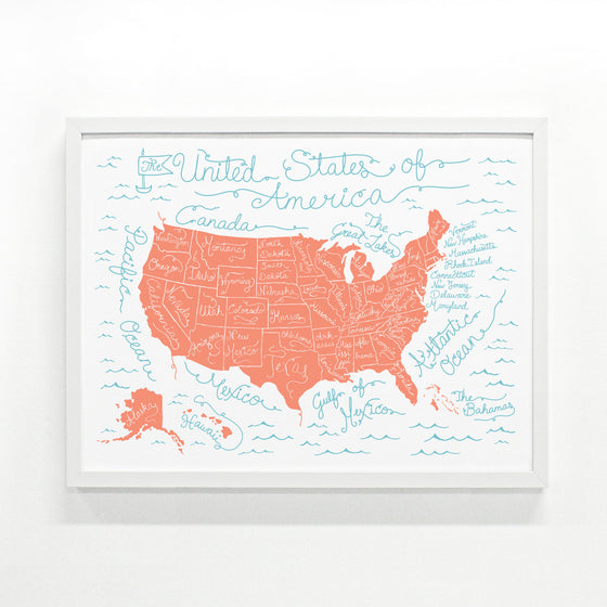 USA Map Large Edition
