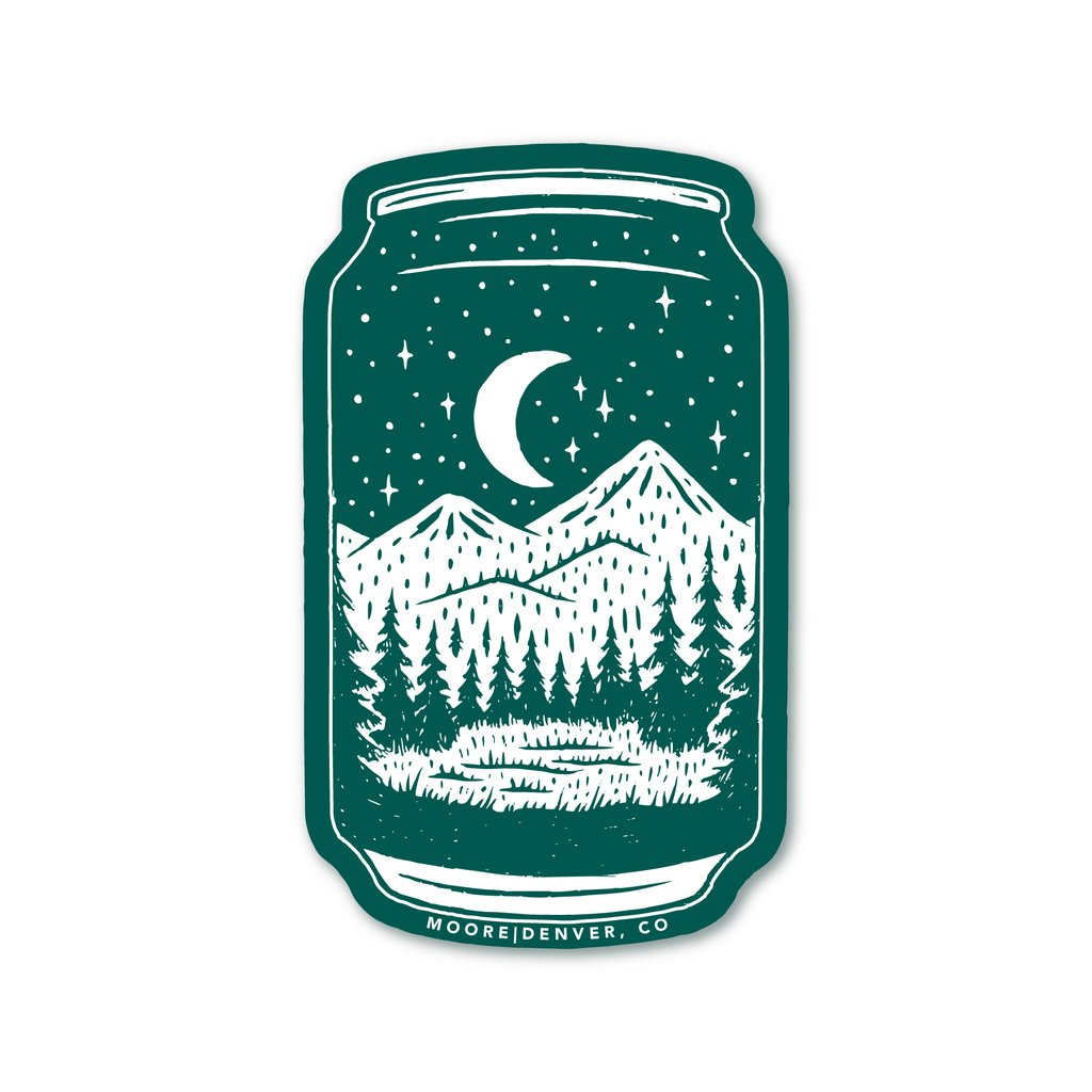 Beer Can Sticker