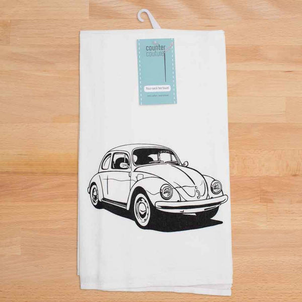 VW Beetle Flour Sack Tea Towel