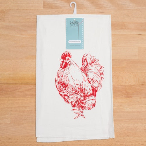 Chicken Flour Sack Tea Towel