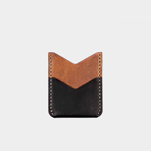 Horween Leather Slash Wallet - Tobacco/Black Dublin