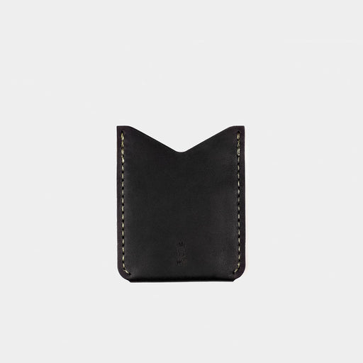 Horween Leather Slash Wallet - Tobacco/Black Dublin Back View