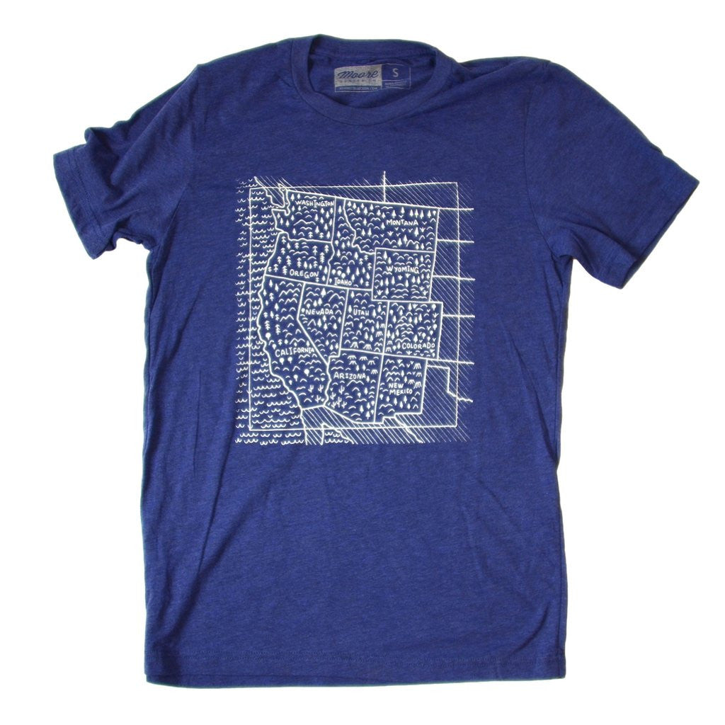 Travel West T - Navy (Men's)