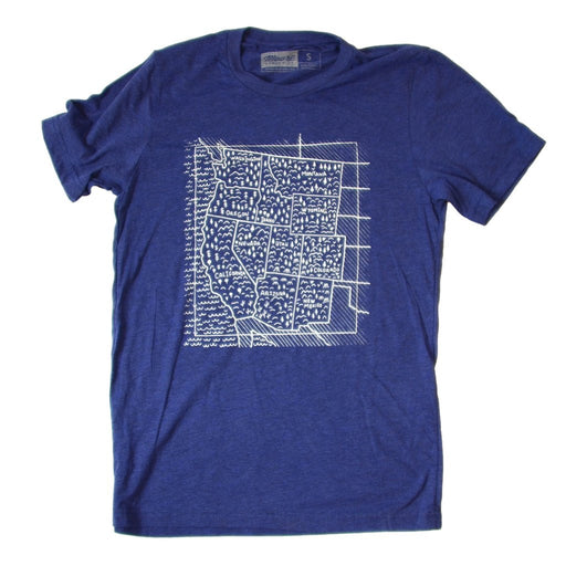 Travel West T-Shirt Navy