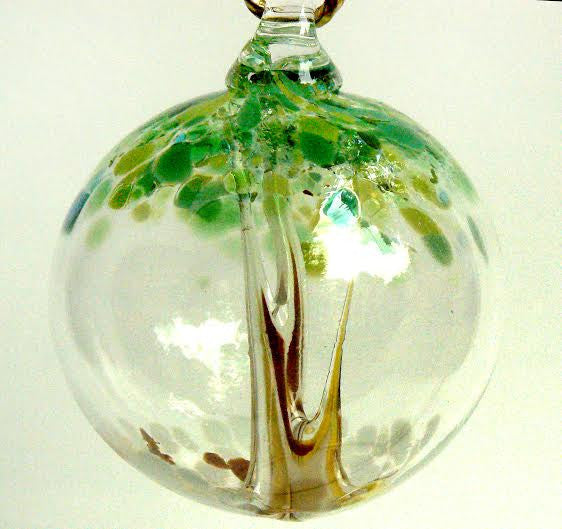 Hand Blown Ornament - Aspen Tree