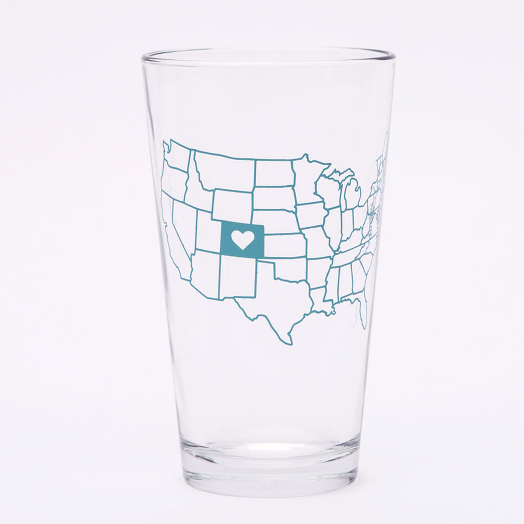 I Heart Colorado Pint Glass