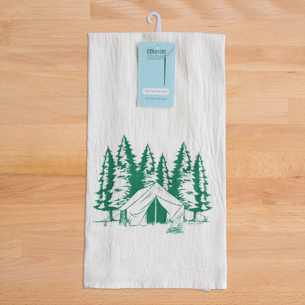 Camping Flour Sack Tea Towel