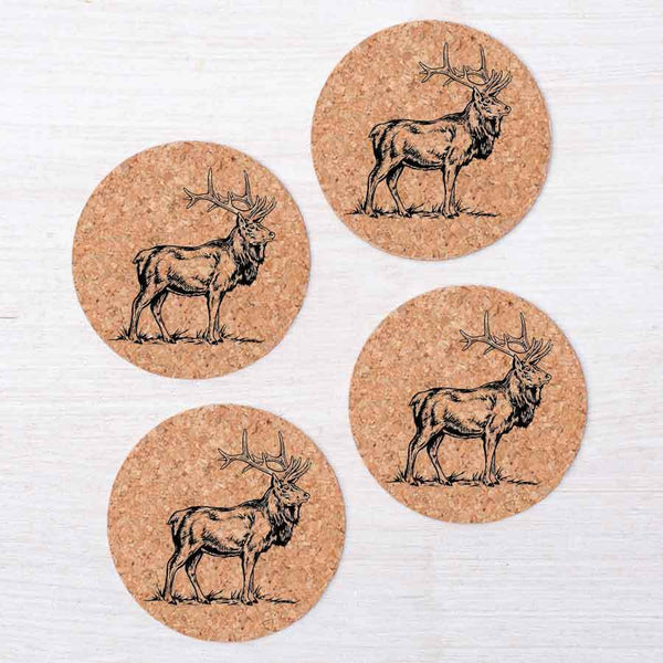 Elk Coasters - Set Of Four