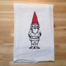 Gnome Flour Sack Tea Towel