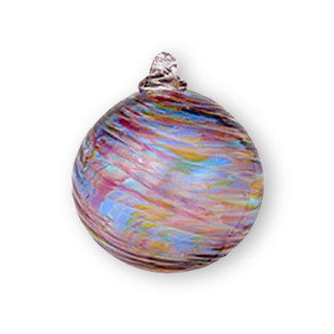 Hand Blown Ornament - Rainbow/Clear