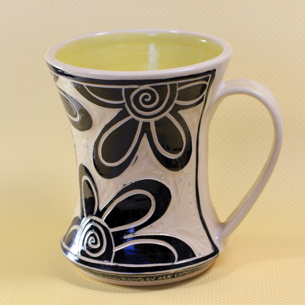 Hourglass Mug Flower (Yellow)