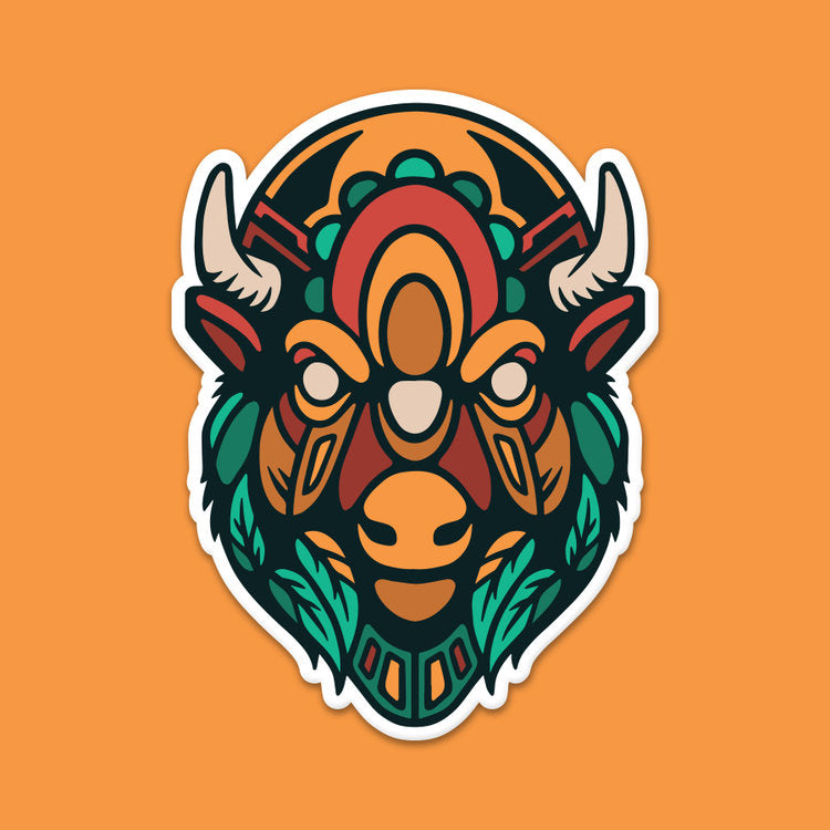 Headstrong Bison Sticker