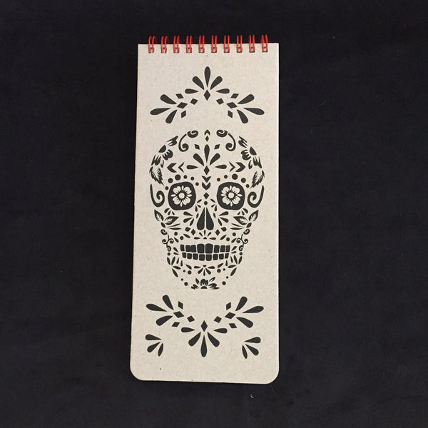 Sugar Skull Wish List Book (Natural)