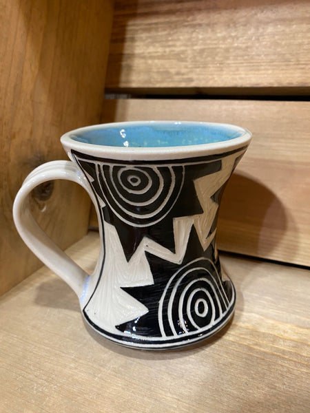 Hourglass Mug Star Pattern (Light Blue)