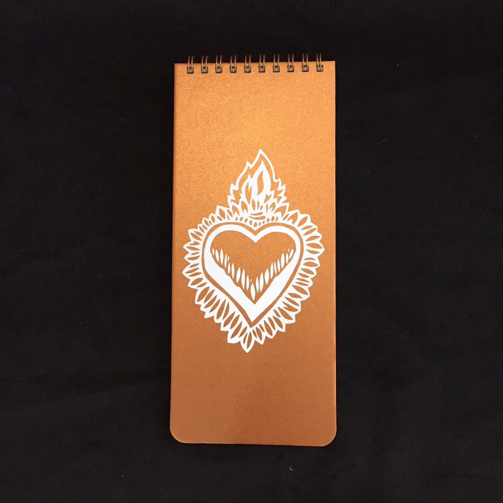 Flaming Heart Wish List Book (Copper)