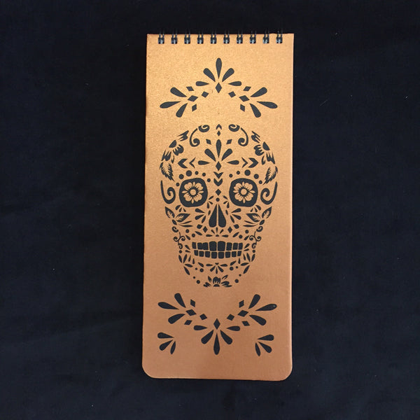 Sugar Skull Wish List Book (Copper)
