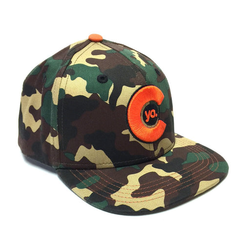 Kids Camo Flat Bill Hat