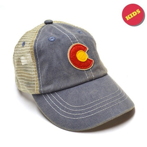 Kids Classic CO Flag Trucker Hat