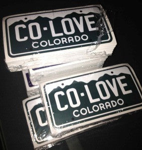 Colorado Love License Plate Sticker