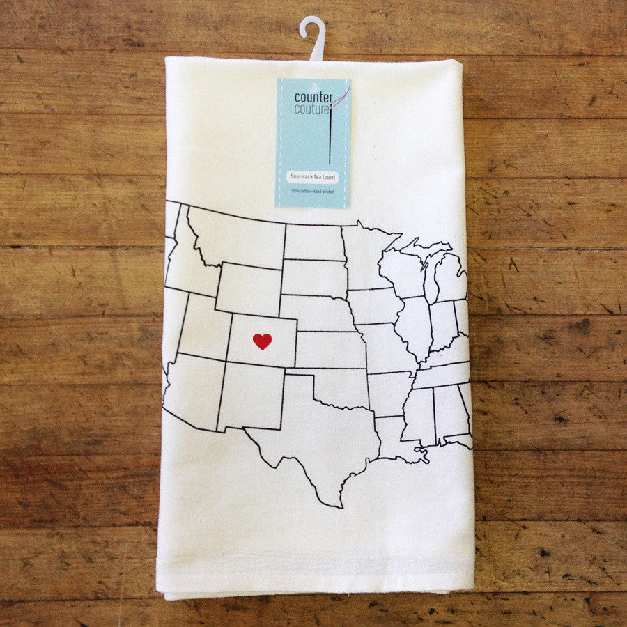 Love Colorado Flour Sack Tea Towel