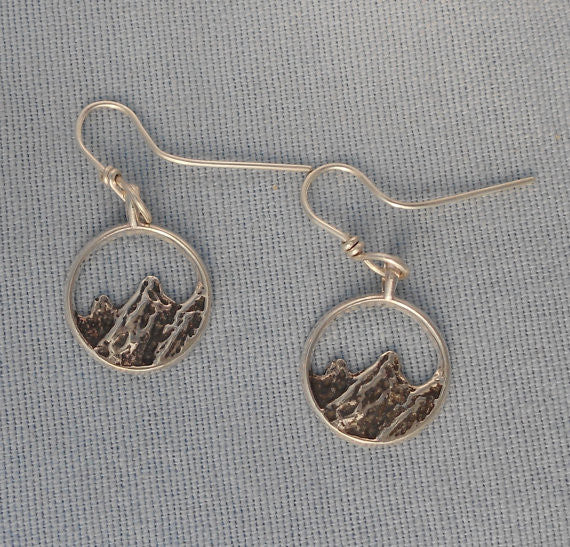 Sterling Silver Flatirons Earrings