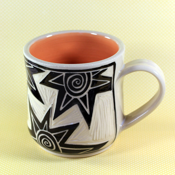 Coffee Mug Star Pattern (Orange)