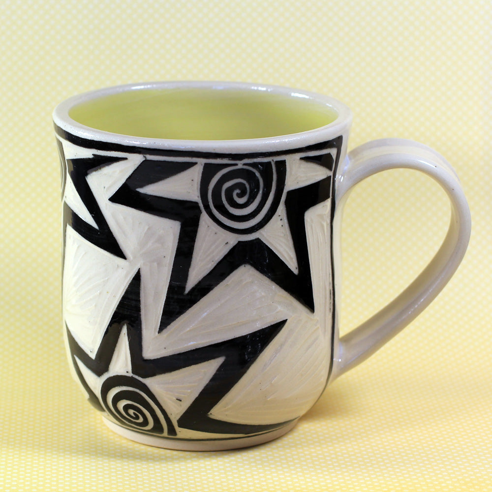 Coffee Mug Star Pattern (Yellow)