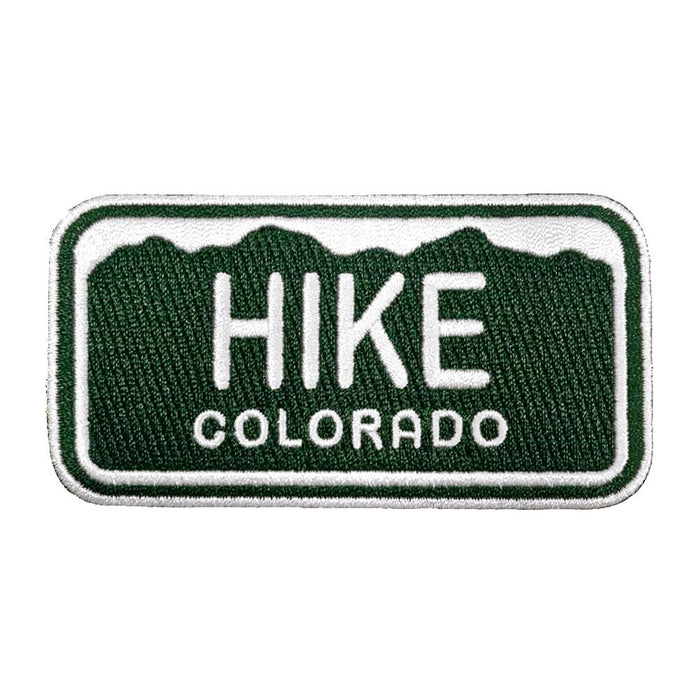 Hike Colorado License Plate Patch