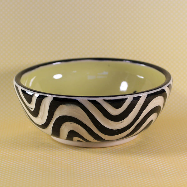 Small Bowl Wave Pattern (Yellow)