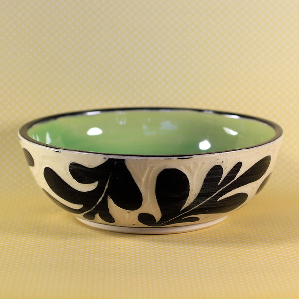 Small Bowl Leaf Pattern (Green)