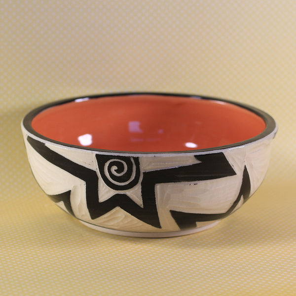 Small Bowl Star Pattern (Orange)
