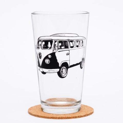 Vintage Bus Pint Glass