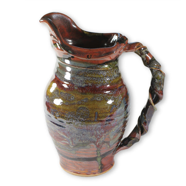 Pitcher in Red & Brown