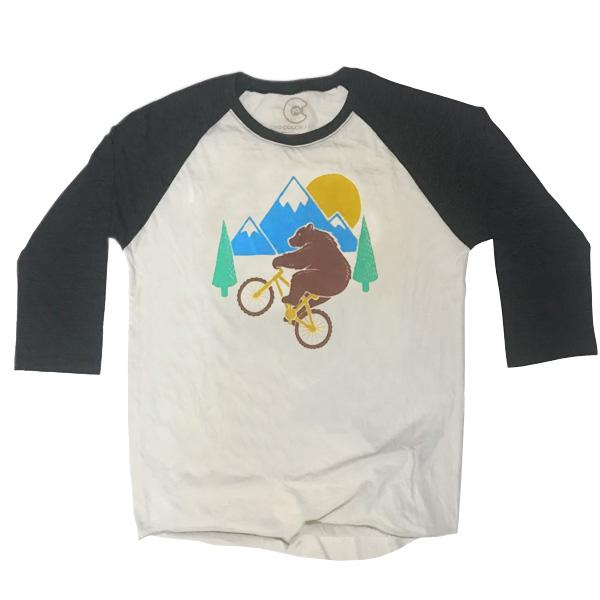 Wheelie Bear 3/4 Sleeve T-Shirt