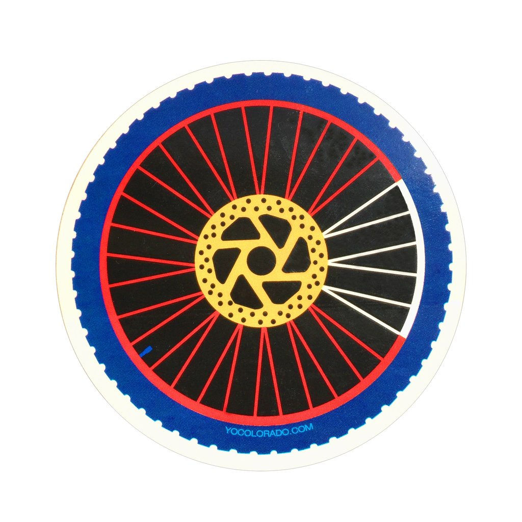 Colorado Flag Mountain Bike Wheel Sticker