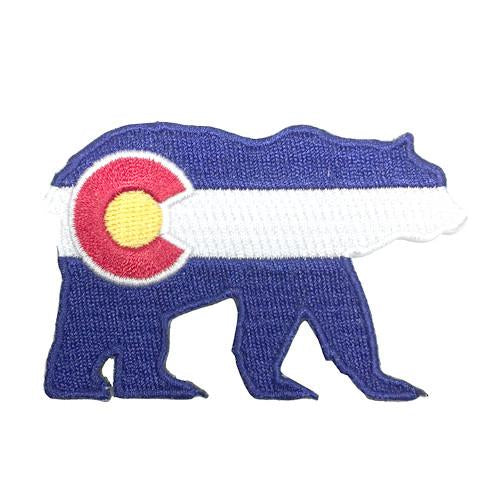 Colorado Flag Bear Patch