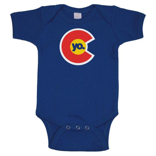 Yo Colorado Flag Infant One Piece Blue