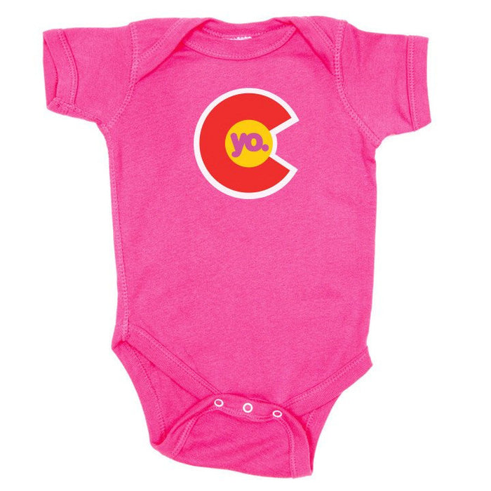 Yo Colorado Flag Infant One Piece Pink