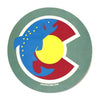 Colorado Flag Trout Sticker