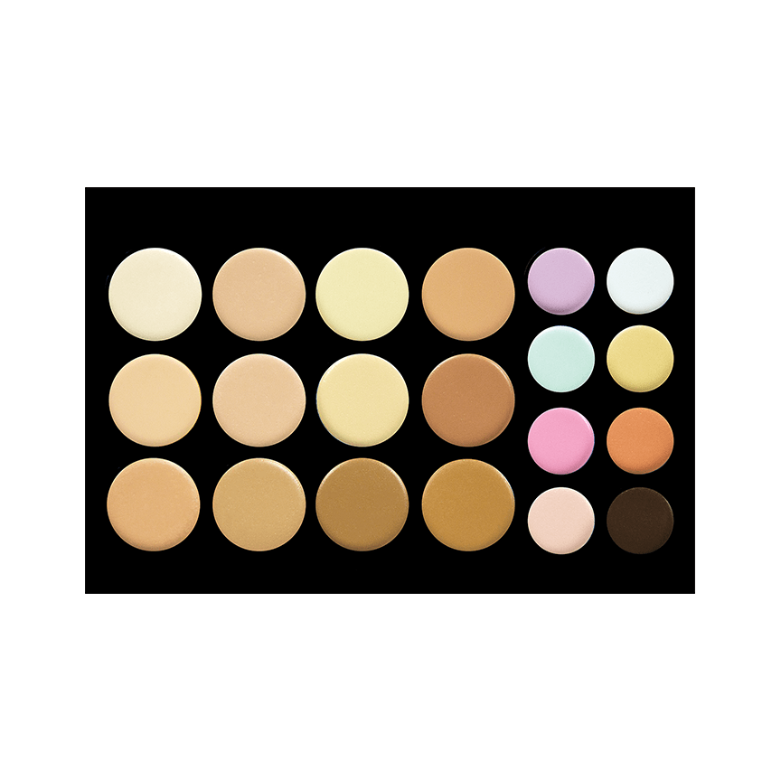 CROWN BRUSH 20CON CONTOUR/CONCEALER PALETTE