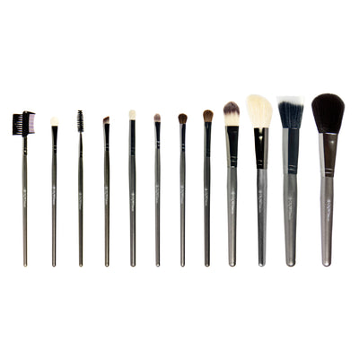 CROWN BRUSH 12PC PROFESSIONAL GUNMETAL BRUSH SET - SET 802