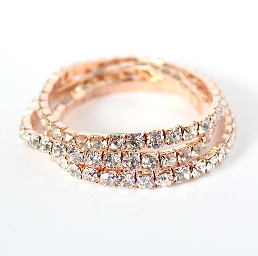 FROSTING ACCESSORIES 3-BAND EXPANDABLE BRACELET | ROSE GOLD