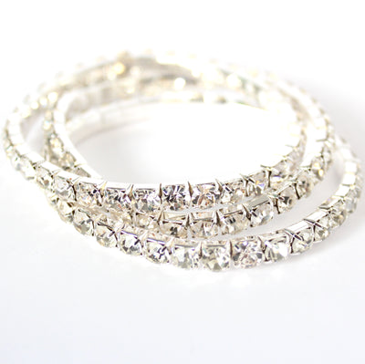 FROSTING ACCESSORIES 3-BAND EXPANDABLE BRACELET | SILVER