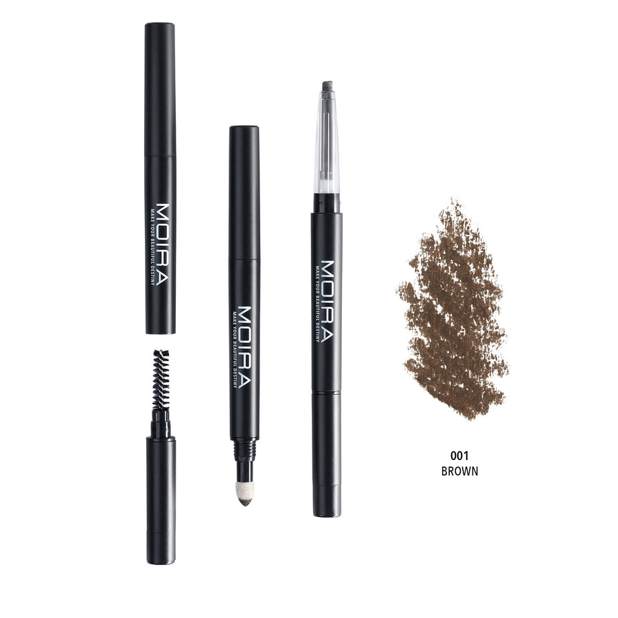 MOIRA BEAUTY 3-IN-1 BROW PENCIL