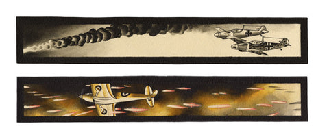 "Messerschmidt & Spitfire', 24"" x 10"" Limited edition giclee print Hahnemuhle Museum Rag 340 gsm paper"