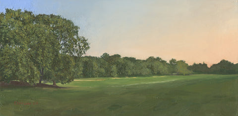 "'Long Meadow Evening', 70"" x 34"" Limited edition giclee print on stretched canvas."