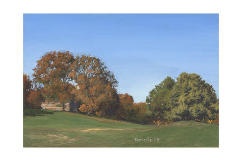 "'October', 24"" x 36"" Limited edition giclee print Hahnemuhle Museum Rag 340 gsm paper"