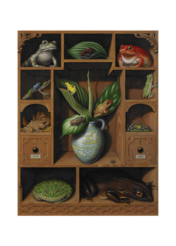 "'Frog cabinet', 28"" x 20"" Limited edition giclée print on Hahnemule Photo Rag 310 gsm paper"