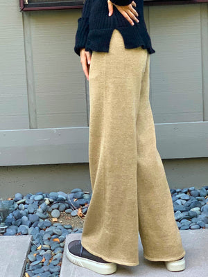 Wide Leg Sparkle Pant-Gold