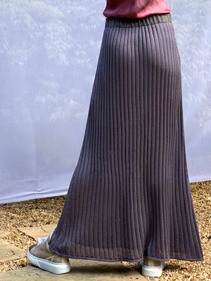 Long Silk Swing Skirt